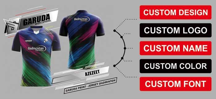 bebas menentukan desain jersey printing